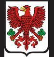 coat of arms of gorzow wielkopolski city in vector image vector image