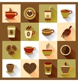 Coffee cup icons vector image