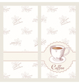 Coffee house menu template design in Hand drawn vector image vector image