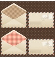 Collection of old vintage envelopes vector image