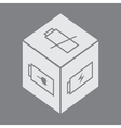 Cube with battery symbol vector | Price: 1 Credit (USD $1)