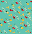 cute fruits seamless pattern vector image