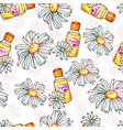 daisy flower seamless pattern spa cosmetics vector image vector image