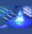 data processing isometric vector image vector image