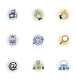 Data protection icons set pop-art style vector image vector image
