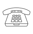 Deskphone thin line icon vector image