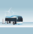 electric bus is charging vector image vector image