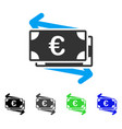 euro money transfer flat icon vector image
