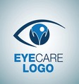 EYE CARE LOGO 5 vector image vector image