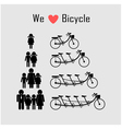 family icon with bicycle vector image vector image