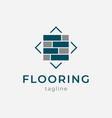 flooring logo design vector image vector image