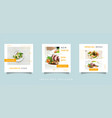 food and culinary social media feed post vector image vector image