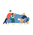 friends people on sofa flat vector image