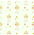 Funny texture with comic yellow bird vector image vector image