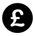 gbp great britain pound sterling symbol black vector image