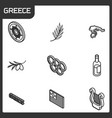 greece outline isometric icons vector image vector image