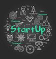 halk board concept - startup sign vector image