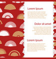 hand fan banner template vector image vector image