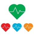 Heartbeat sign Colorfull set vector image vector image