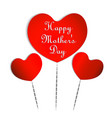 hearts for happy mothers day vector image vector image