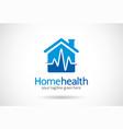 home health logo template design emblem design vector image vector image