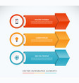 infographic arrows vector image vector image