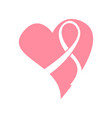 isolated pink ribbon breast cancer campaign vector image
