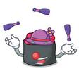 juggling ikura mascot cartoon style vector image vector image