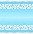 Lace with pearls vector image vector image