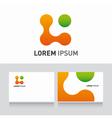logo company card organic vector image vector image