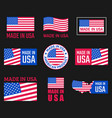 made in usa icon set american product labels vector image vector image