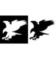 majestic eagle in flight silhouette vector image vector image