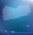 Map of Yemen vector image vector image