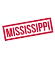 Mississippi rubber stamp vector image vector image