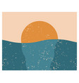 modern abstract aesthetic background with sun vector image