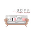 modern sofa furniture icon design sale vector image vector image