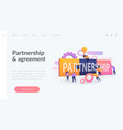partnership landing page concept vector image vector image