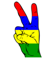 Peace Sign of the Mauritius flag vector image vector image