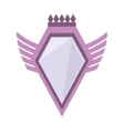 Pink shield crown winged shape geometric badge