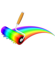 rainbow painting vector image vector image