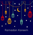 ramadan kareem celebration background with vector image