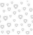 seamless pattern with polygonal heart vector image vector image