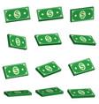 set icons bundle bills bundles money dollar vector image vector image