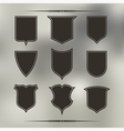 Set of nine different forms of shields vector image vector image