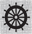 Ship wheel icon resize vector image