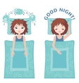 Sleep and insomnia concept vector image vector image