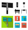 stands and signs and other web icon in black flat vector image