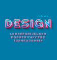 stencil futuristic sci-fi alphabet creative vector image vector image