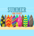 surfboards on the beach flat design style vector image vector image