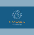 template emblem for blockchain technology vector image vector image